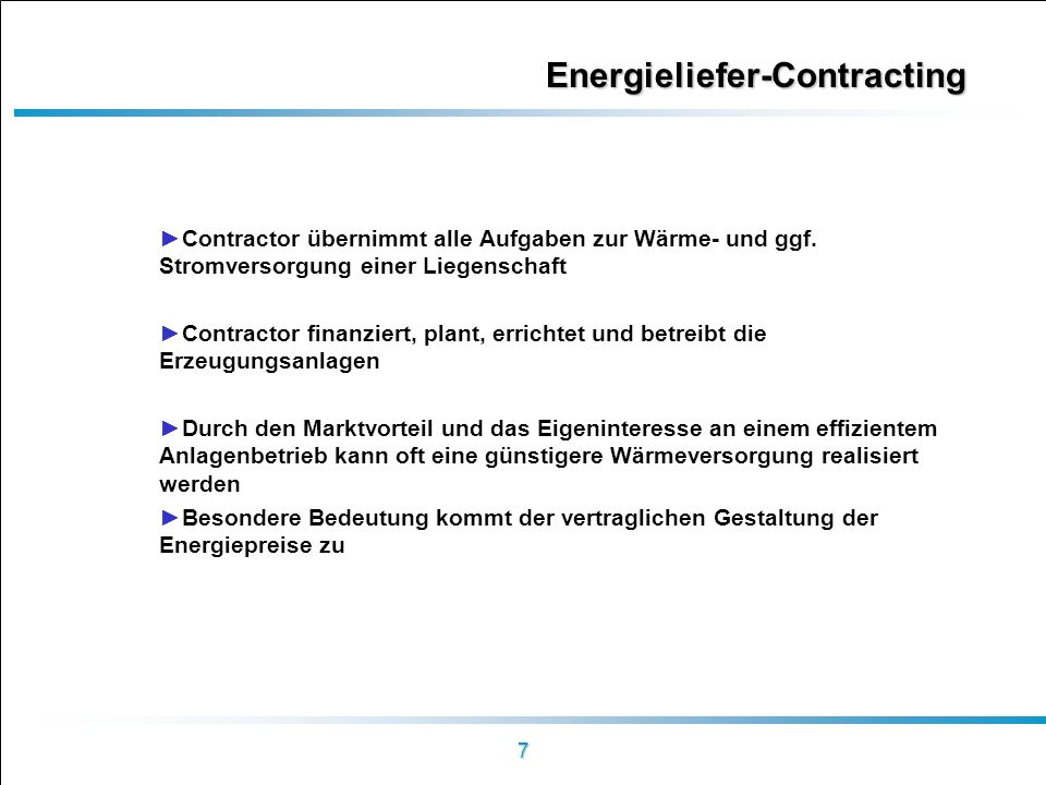 Energieliefer-Contracting