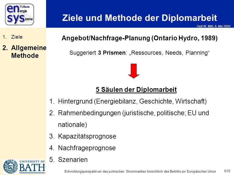 Ziele und Methode der Diplomarbeit