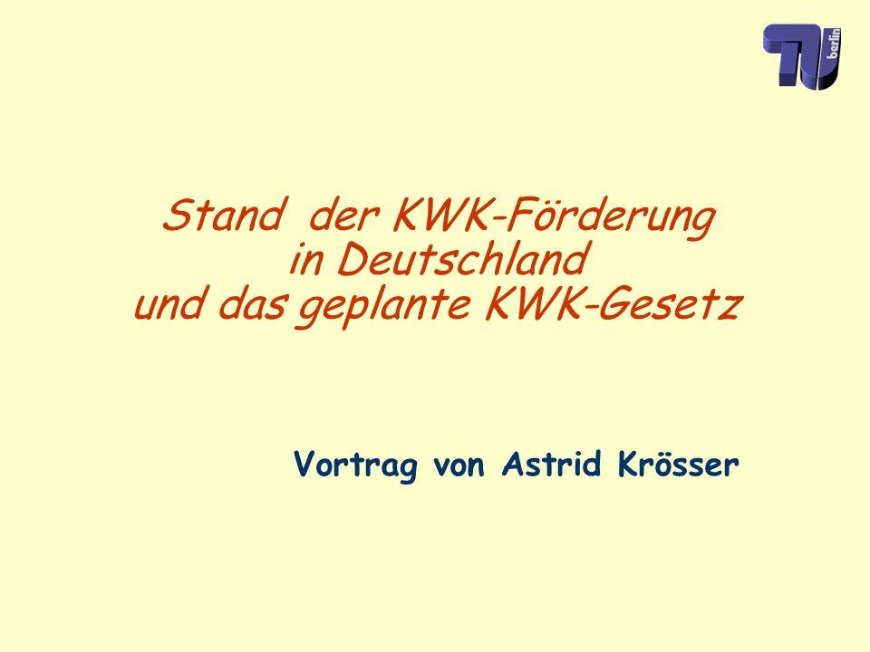 Stand der KWK-Förderung in Deutschland und das geplante KWK-Gesetz