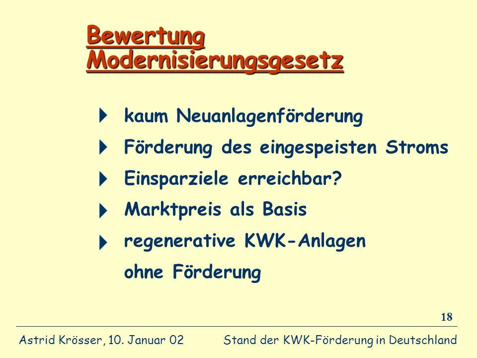 Bewertung Modernisierungsgesetz