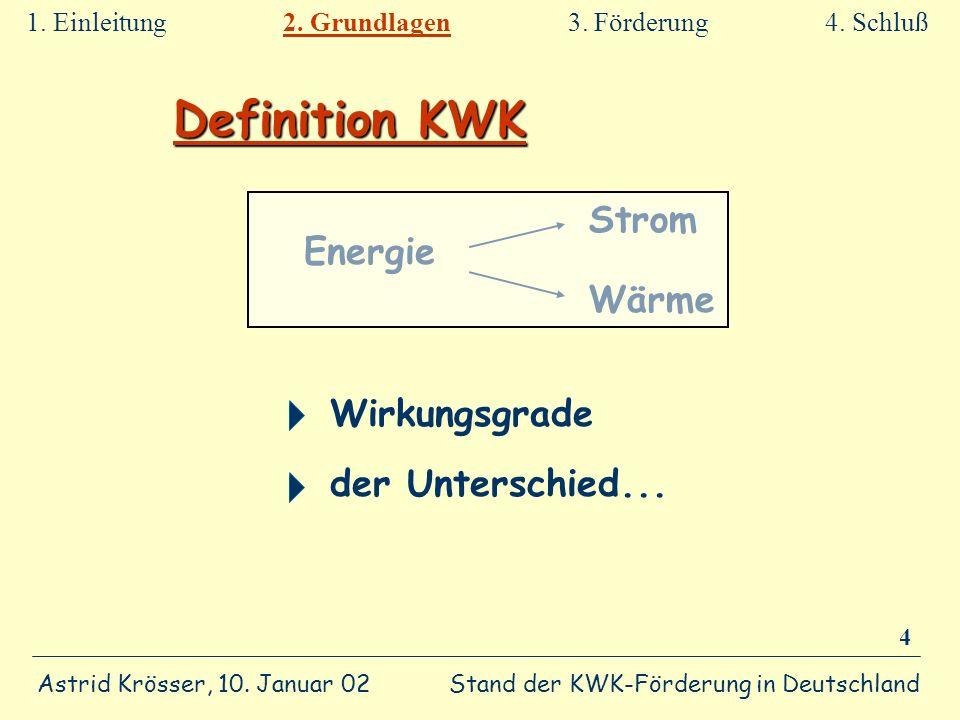 Definition KWK Strom Energie Wärme Wirkungsgrade der Unterschied...