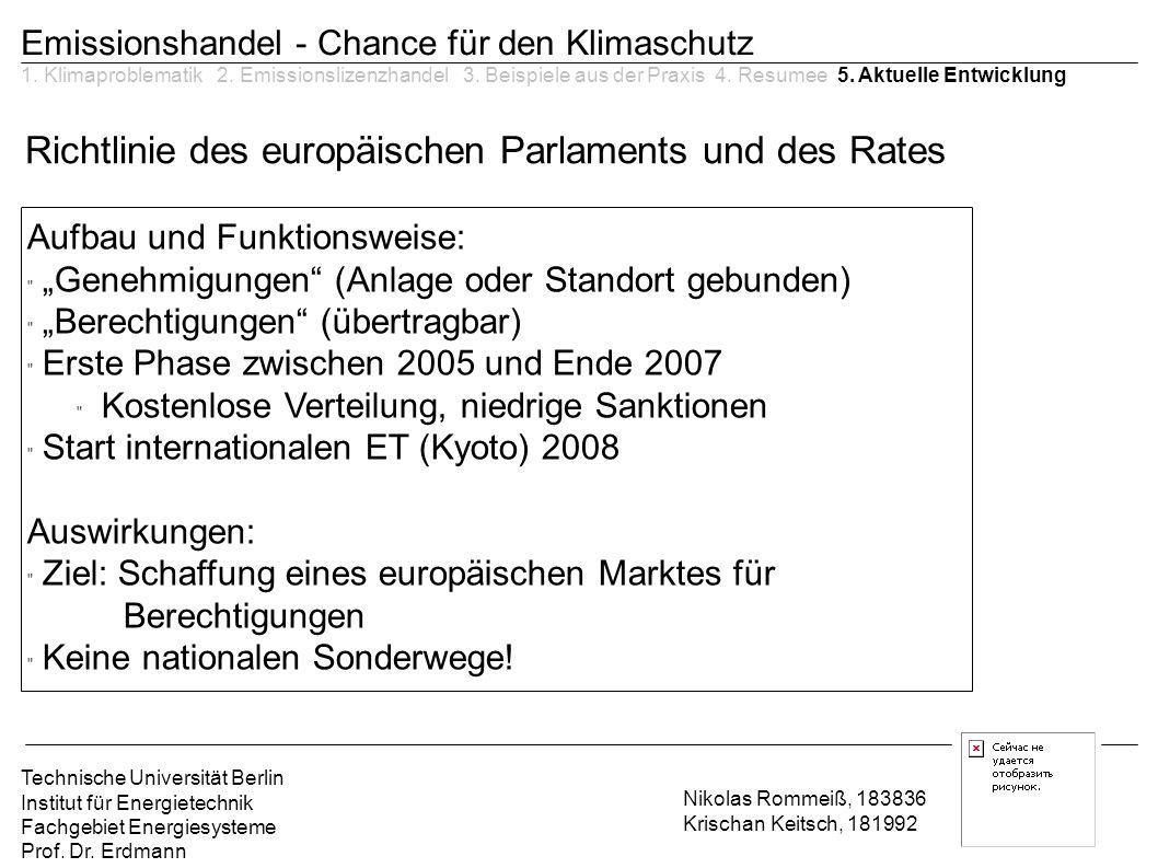 Richtlinie des europäischen Parlaments und des Rates