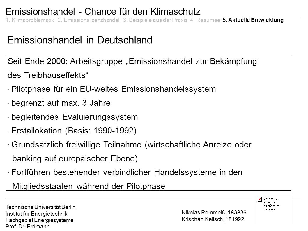 Emissionshandel in Deutschland