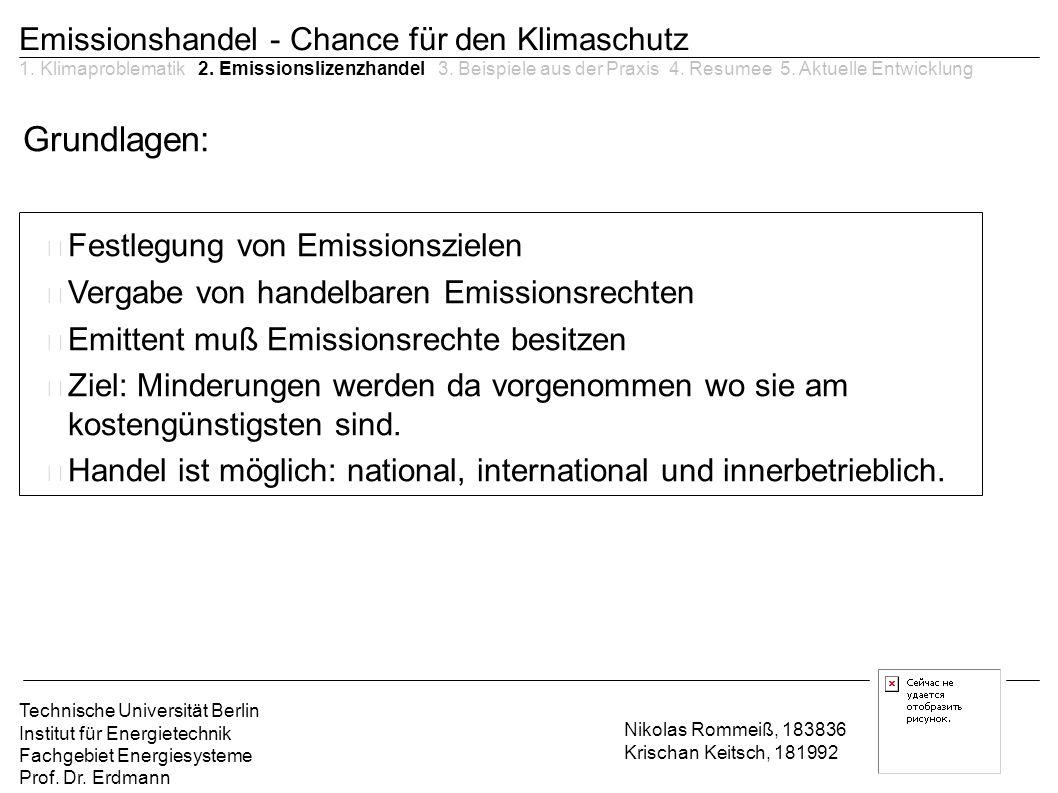 Grundlagen: Emissionshandel - Chance für den Klimaschutz