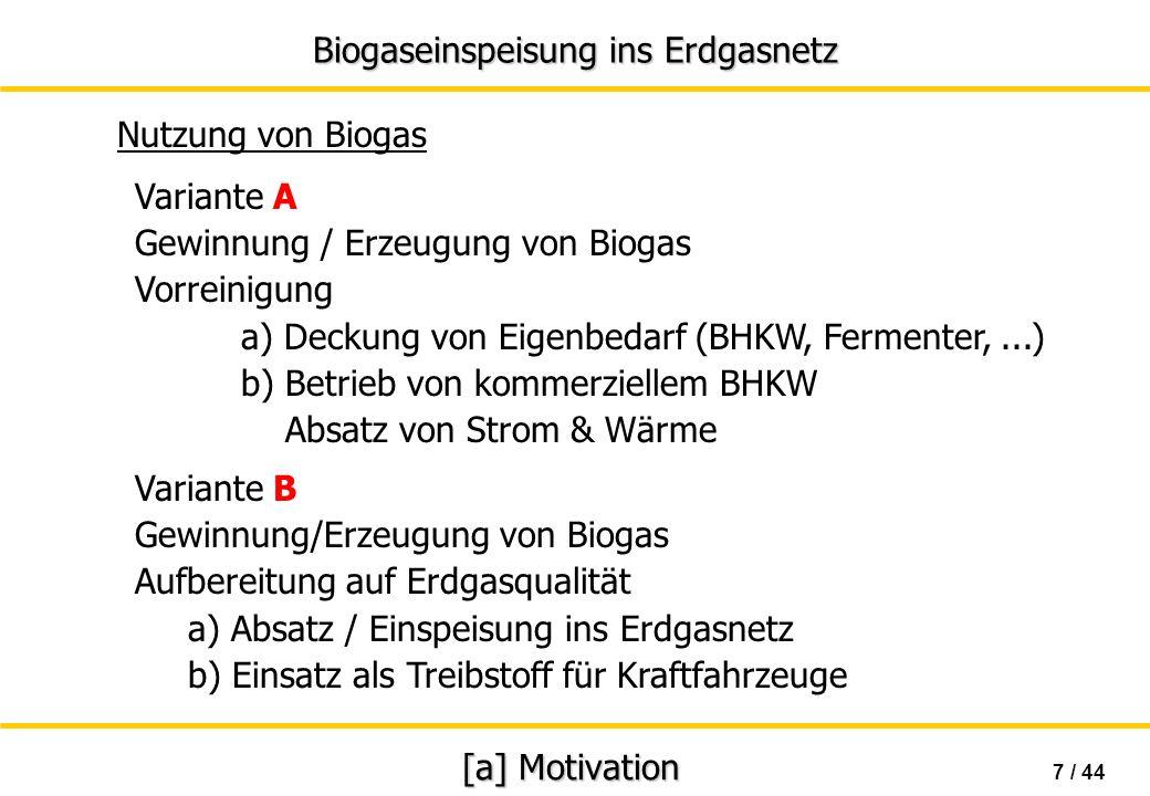 Gewinnung / Erzeugung von Biogas Vorreinigung