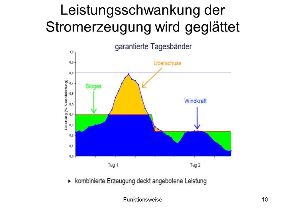 Leistungsschwankung der Stromerzeugung wird geglättet