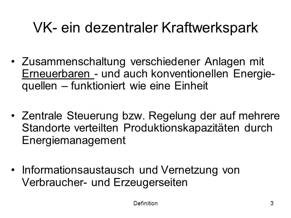 VK- ein dezentraler Kraftwerkspark