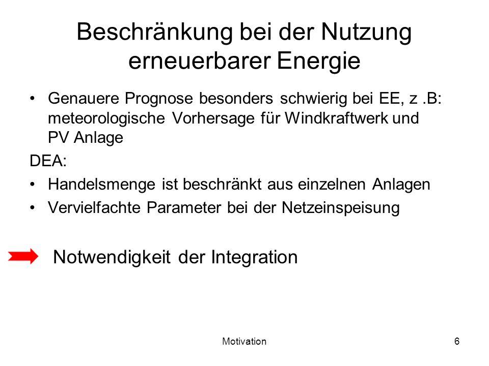 Beschränkung bei der Nutzung erneuerbarer Energie