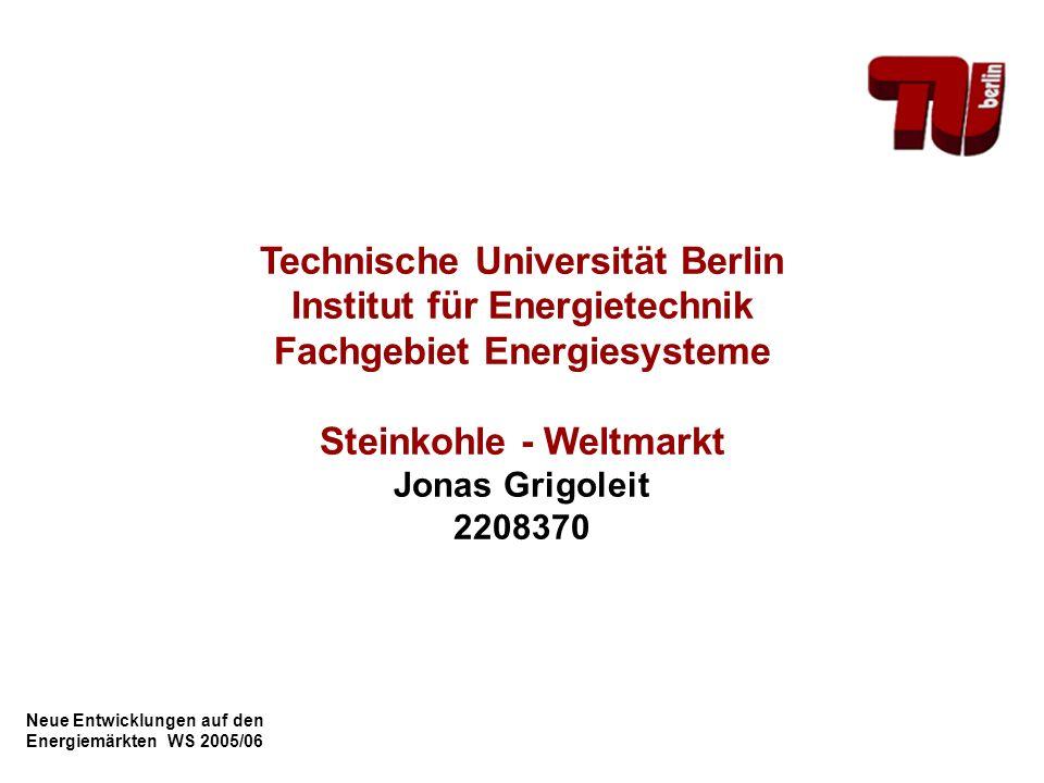 Technische Universität Berlin Institut für Energietechnik
