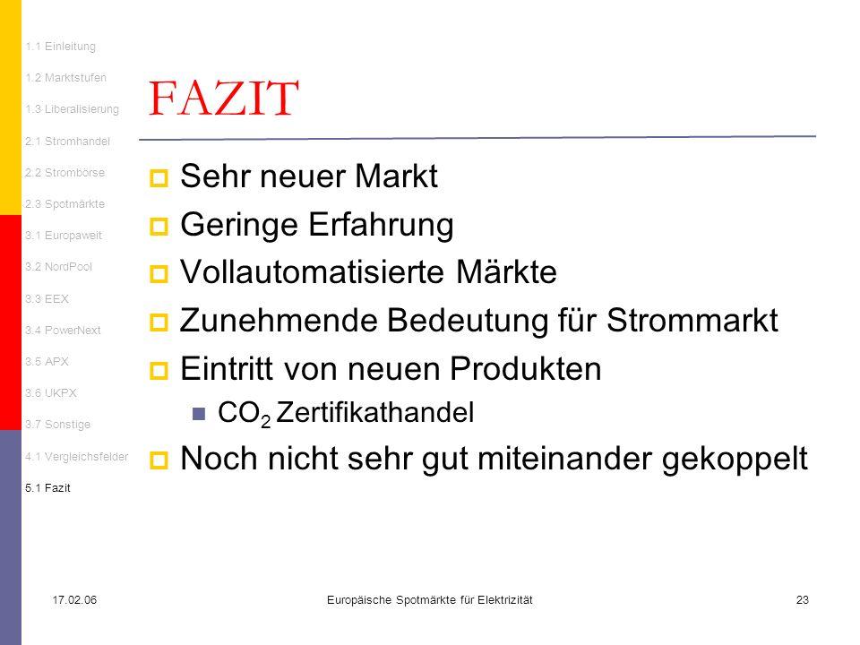 Europäische Spotmärkte für Elektrizität