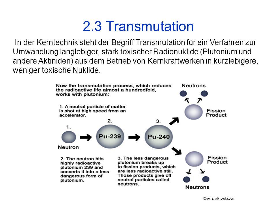 2.3 Transmutation