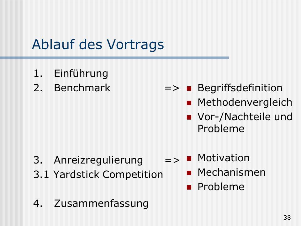 Ablauf des Vortrags 1. Einführung 2. Benchmark =>