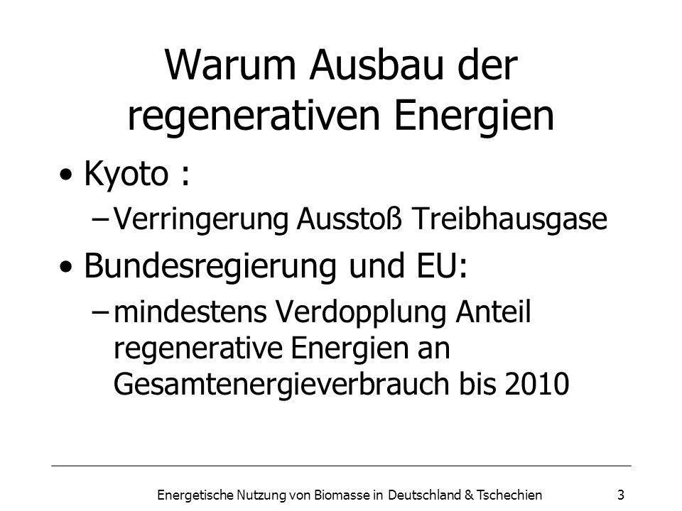 Warum Ausbau der regenerativen Energien