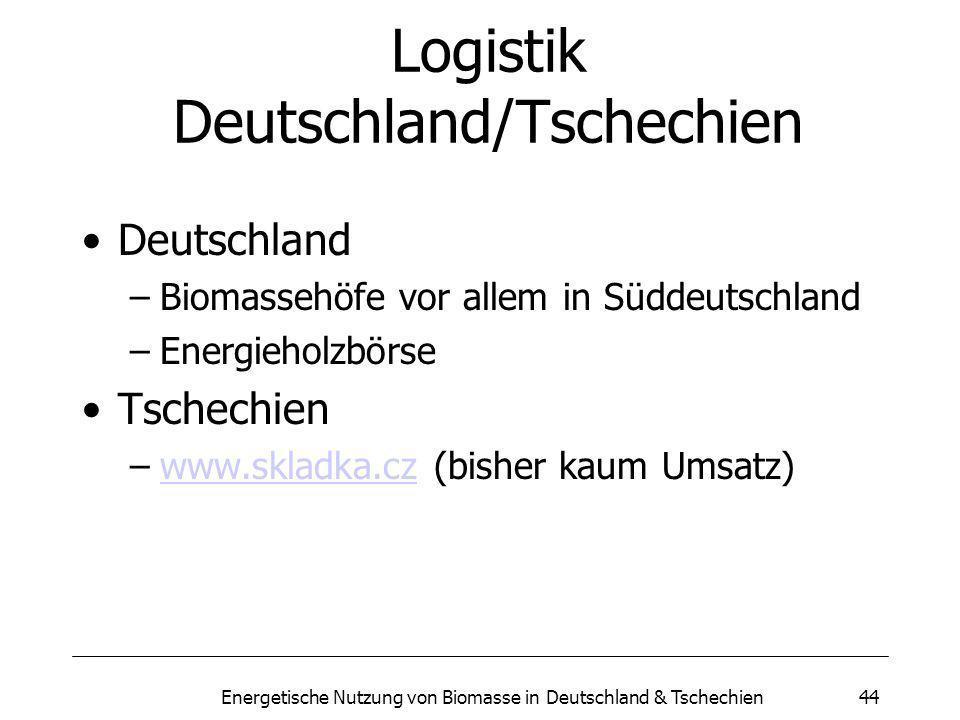 Logistik Deutschland/Tschechien