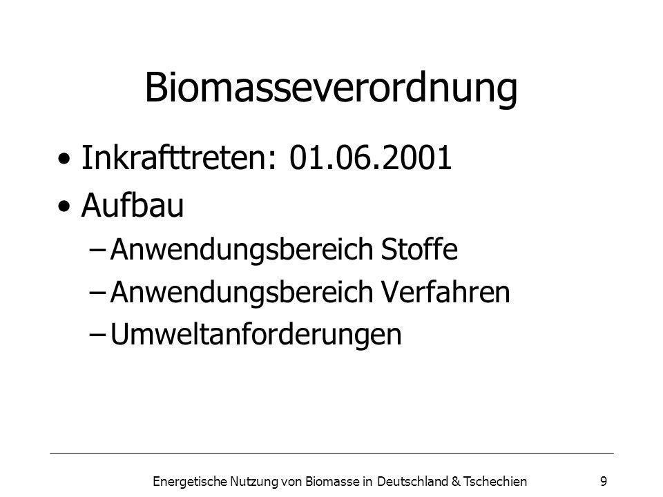 Energetische Nutzung von Biomasse in Deutschland & Tschechien