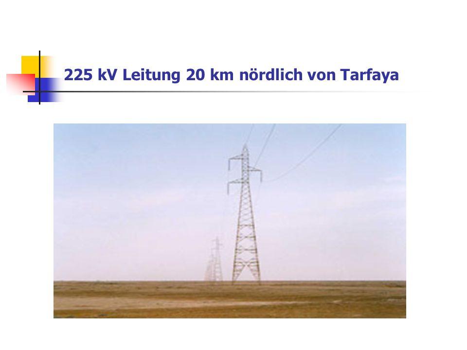 225 kV Leitung 20 km nördlich von Tarfaya