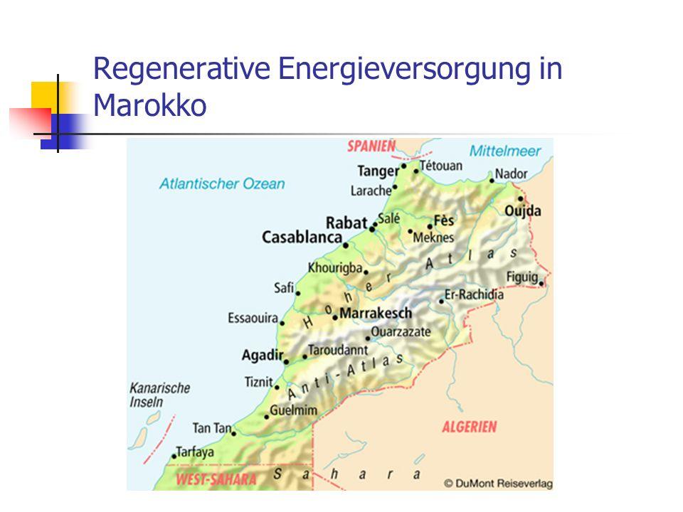 Regenerative Energieversorgung in Marokko