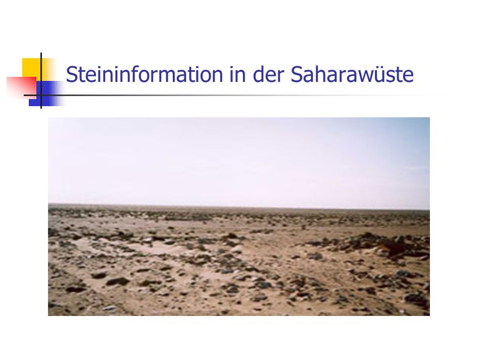 Steininformation in der Saharawüste
