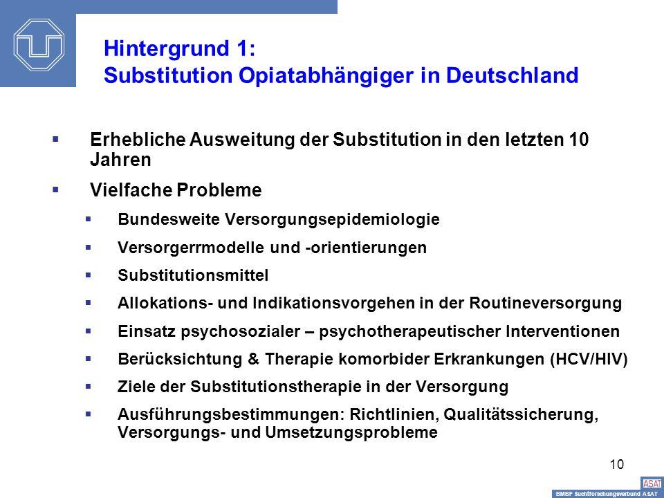 Hintergrund 1: Substitution Opiatabhängiger in Deutschland