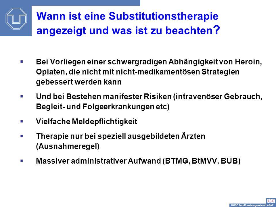 Wann ist eine Substitutionstherapie angezeigt und was ist zu beachten