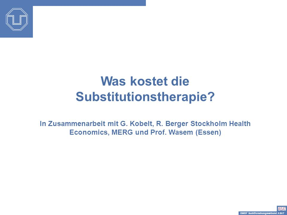 Was kostet die Substitutionstherapie