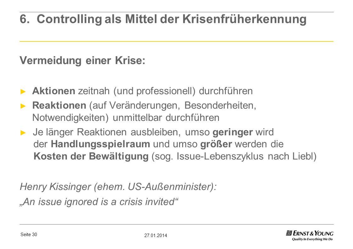 6. Controlling als Mittel der Krisenfrüherkennung