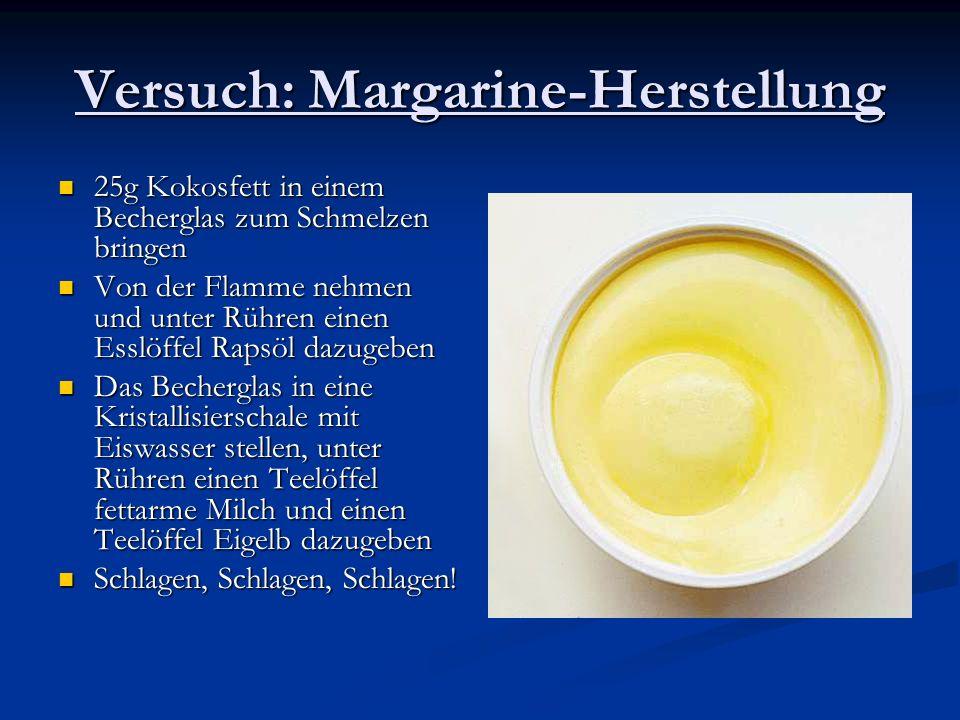 Versuch: Margarine-Herstellung