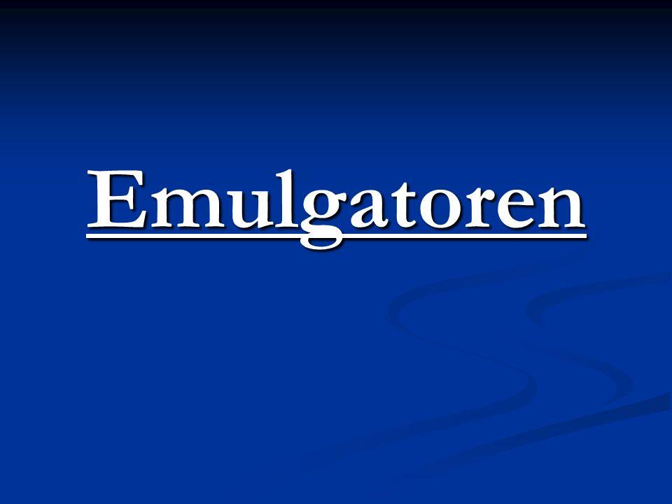 Emulgatoren
