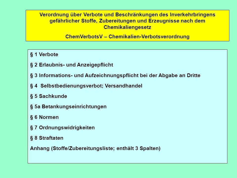 ChemVerbotsV – Chemikalien-Verbotsverordnung