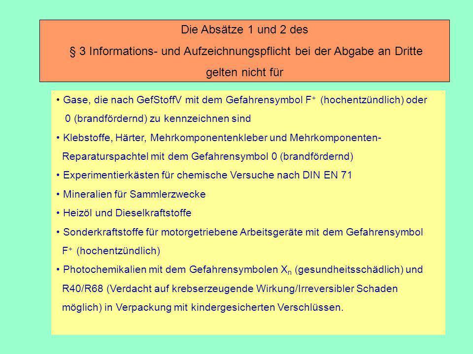 § 3 Informations- und Aufzeichnungspflicht bei der Abgabe an Dritte