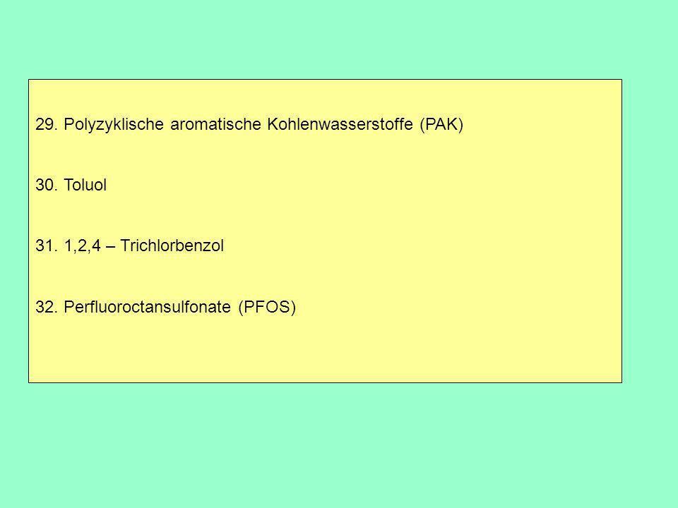 29. Polyzyklische aromatische Kohlenwasserstoffe (PAK)