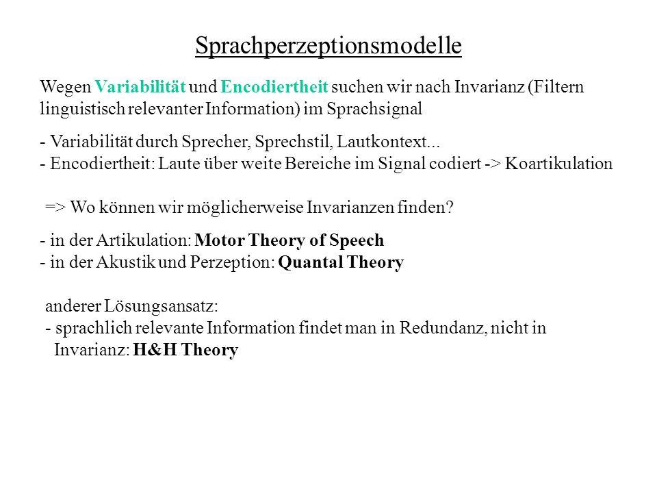Sprachperzeptionsmodelle