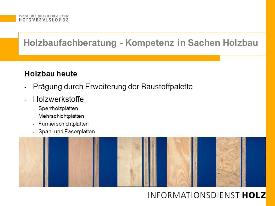 Holzbaufachberatung - Kompetenz in Sachen Holzbau
