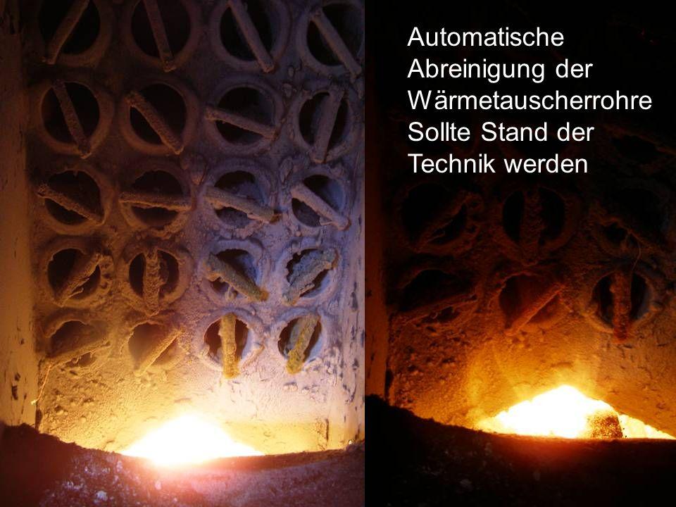 Automatische Abreinigung der Wärmetauscherrohre