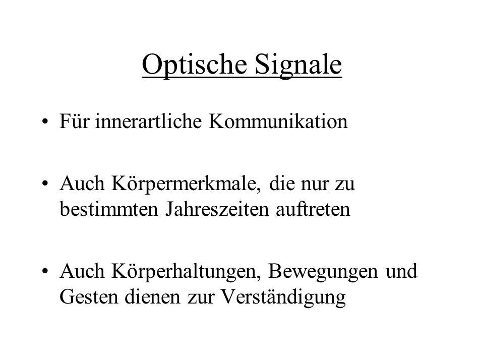 Optische Signale Für innerartliche Kommunikation