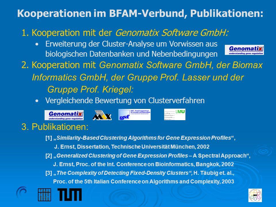 Kooperationen im BFAM-Verbund, Publikationen: