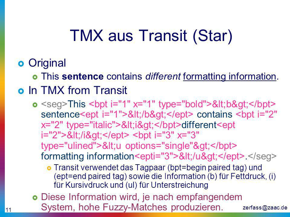 TMX aus Transit (Star) Original In TMX from Transit