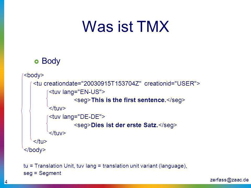 Was ist TMX Body <body>
