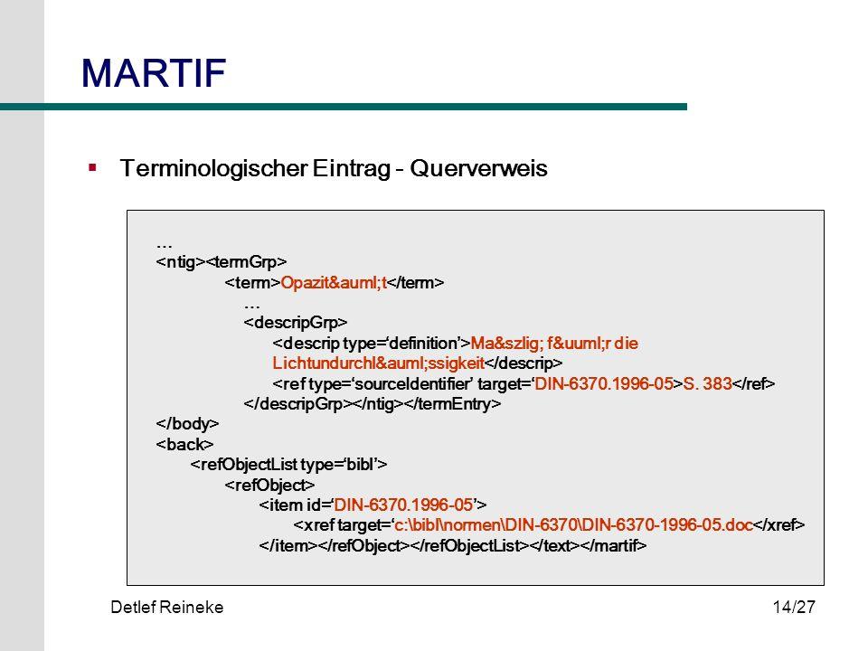 MARTIF Terminologischer Eintrag - Querverweis …