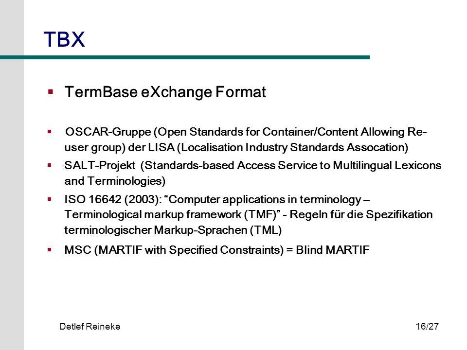 TBX TermBase eXchange Format