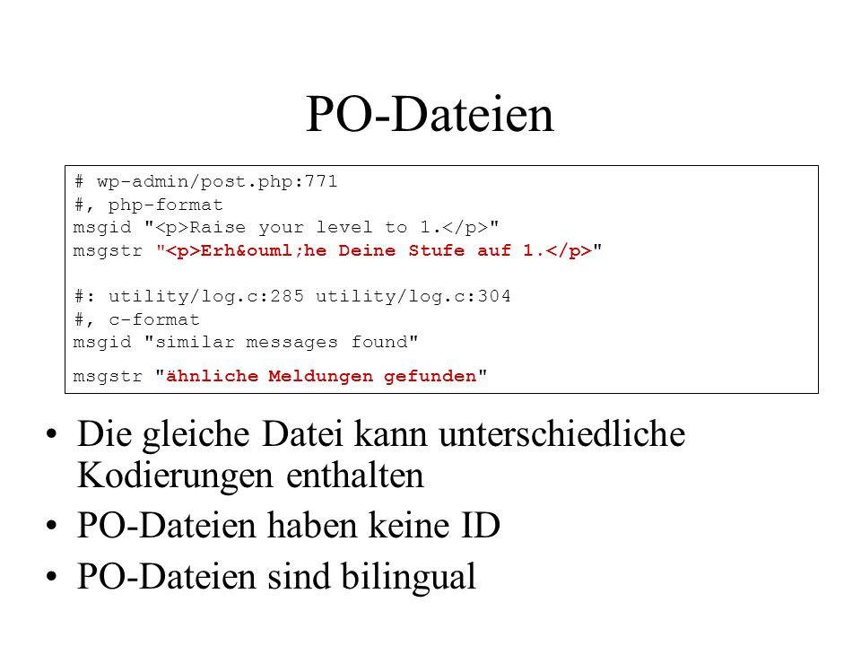 PO-Dateien # wp-admin/post.php:771. #, php-format. msgid <p>Raise your level to 1.</p> msgstr <p>Erhöhe Deine Stufe auf 1.</p>