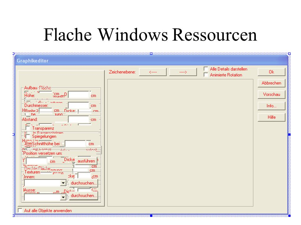 Flache Windows Ressourcen