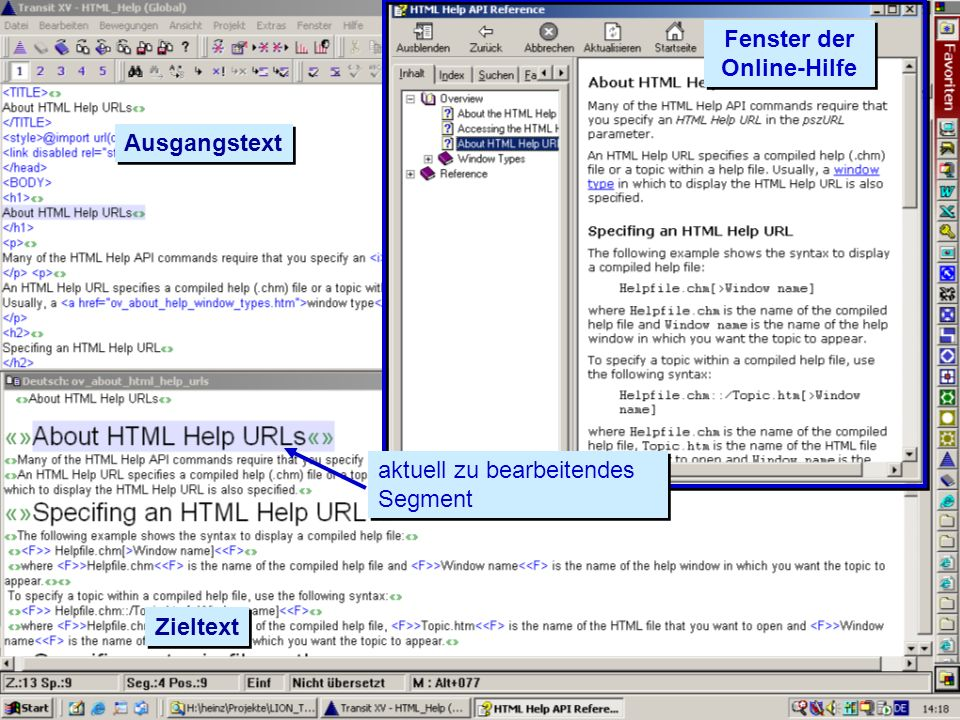 Fenster der Online-Hilfe