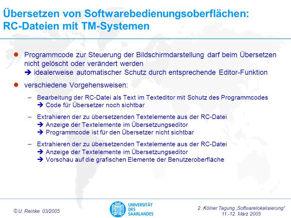 Übersetzen von Softwarebedienungsoberflächen: RC-Dateien mit TM-Systemen