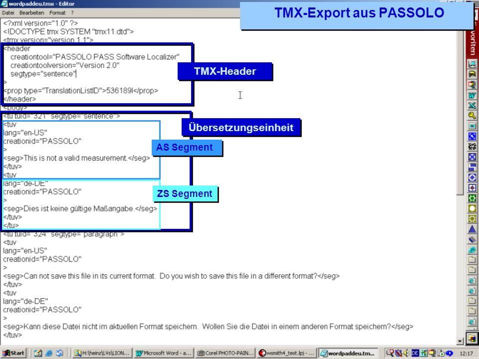 TMX-Export aus PASSOLO