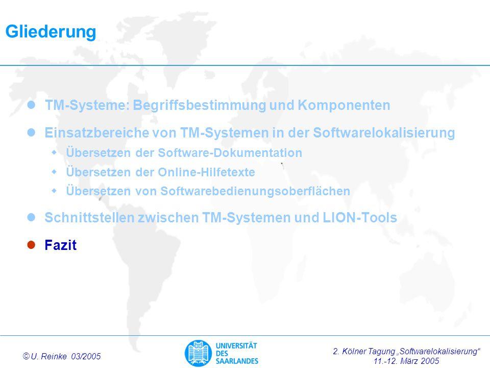 Gliederung TM-Systeme: Begriffsbestimmung und Komponenten