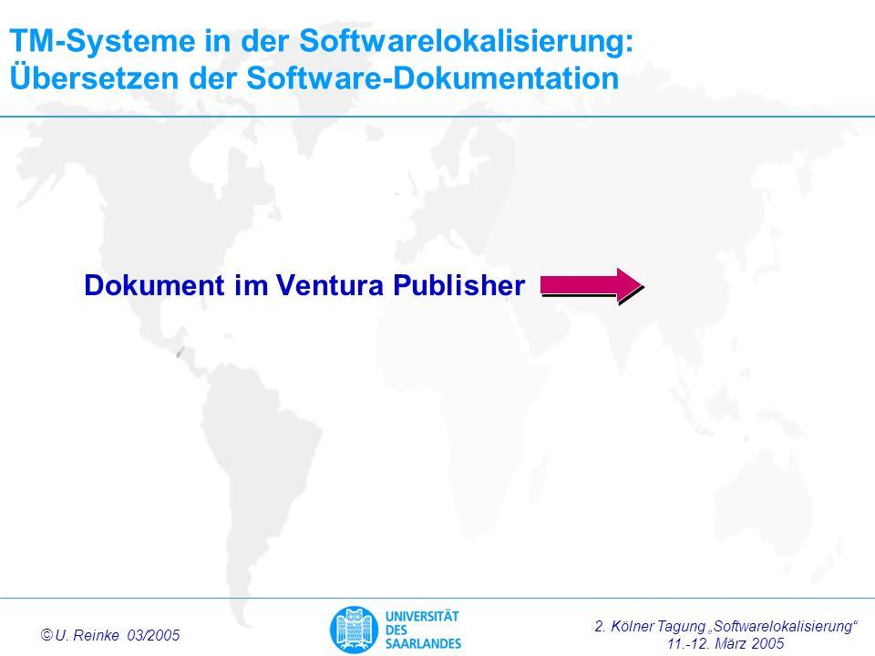 TM-Systeme in der Softwarelokalisierung: Übersetzen der Software-Dokumentation