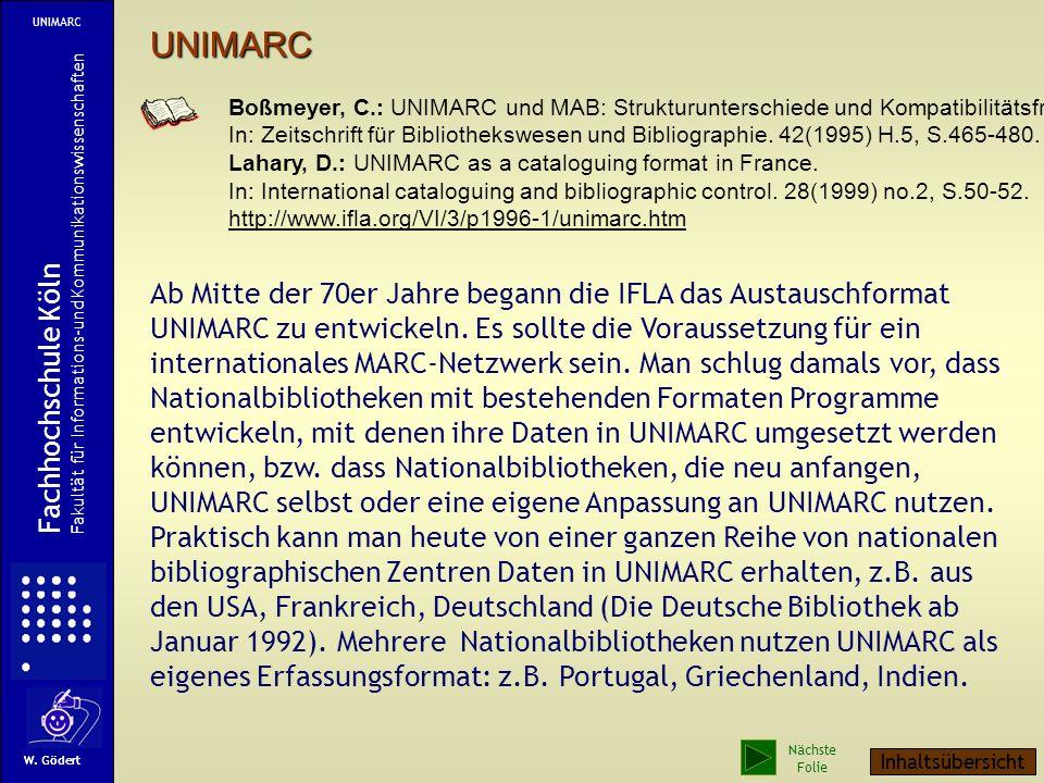 UNIMARC Fachhochschule Köln