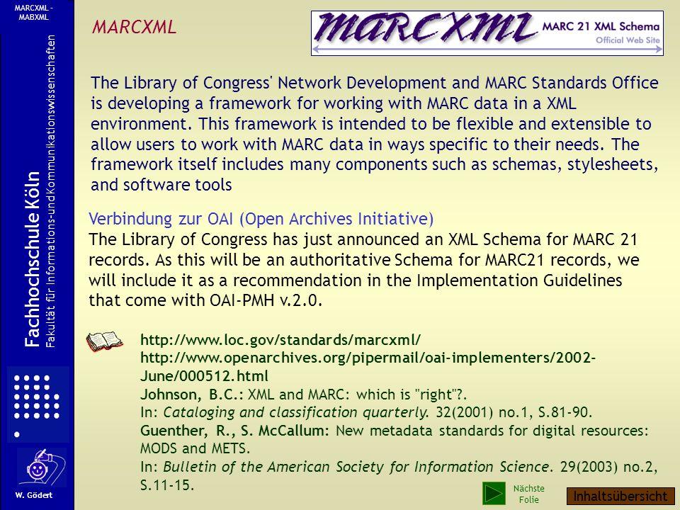 MARCXML Fachhochschule Köln