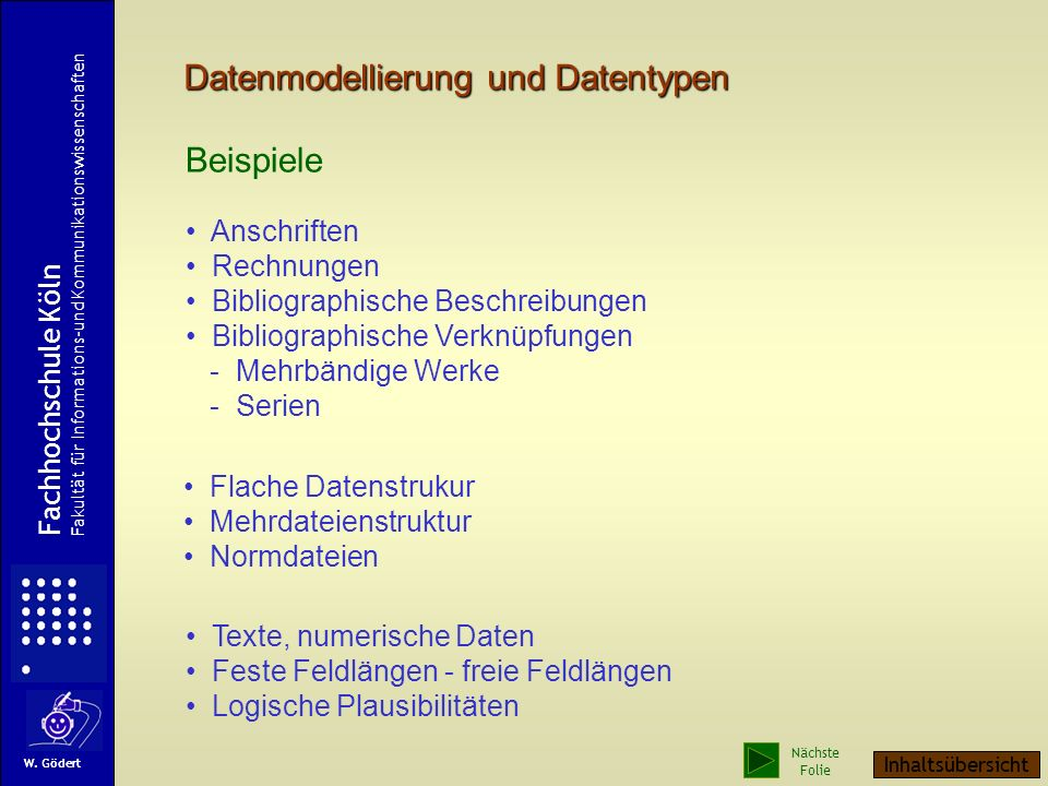 Datenmodellierung und Datentypen